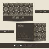 Stylish business or visiting card design. — Stock Vector
