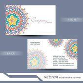 Professional business card design. — Stock Vector