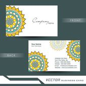 Professional business or visiting card design. — Stock Vector