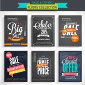 Set of Big Sale Flyers. — Stock Vector