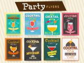Cocktail party celebration flyer or template. — Stock Vector