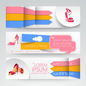 Woman sandal sale web header or banner. — Stock Vector