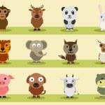 Set of animal cartoon characters. — Stock Vector #70197053