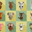 Set of animal characters. — Stock Vector #70197059
