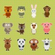 Set of animal cartoon characters. — Stock vektor #70197069