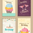 Collection of Birthday Flyers. — Stock Vector #70197167