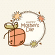 Rounded frame for Happy Mother's Day celebration. — Stock Vector #70199111