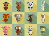 Set of animal characters. — Stock Vector