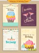 Collection of Birthday Flyers. — Stock Vector