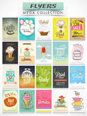 Big set of different Flyers. — Vector de stock