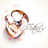 Happy Mother's Day celebration concept. — Stock Vector