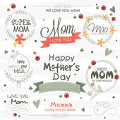 Typographic collection or frames for Happy Mother's Day. — Vettoriale Stock