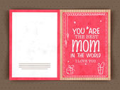 Elegant greeting card design for Happy Mother's Day. — Vector de stock
