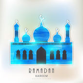 Islamic Mosque for holy month Ramadan Kareem celebration. — Stock Vector