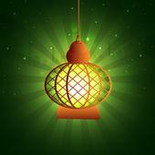 Arabski Lampa dla świętego miesiąca Ramadan Kareem celebracja. — Wektor stockowy