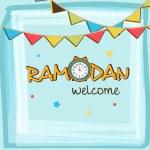 Greeting card for Islamic holy month Ramadan Kareem celebration. — Stock Vector #70466649