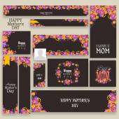 Social media header or banner for Happy Mother's Day. — Stock Vector