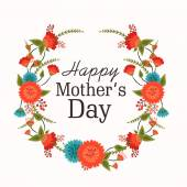 Pozdrav card design pro šťastné matky den oslav. — Stock vektor