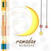 Greeting or invitation card for Ramadan Kareem celebration. — Stock Vector