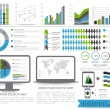 Set of Business Infographics elements. — Stock Vector #70869533