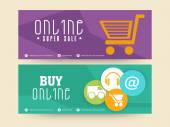 Sale website header or banner set. — Stock Vector