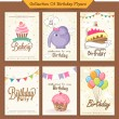 Collection of birthday flyers. — Stock Vector #70995135