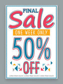 Poster, banner or flyer for Final Sale. — Stock Vector