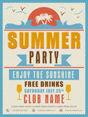 Invitation card design for summer party. — Stock Vector