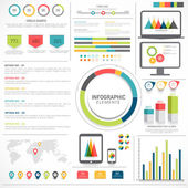 Big set of Business Infographic elements. — Stock Vector