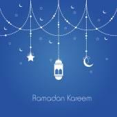 ラマダン カリームお祝いグリーティング カード. — ストックベクタ