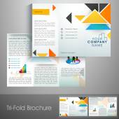 Professional business trifold flyer. — Stock Vector