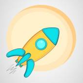 Kiddish style rocket with sticky. — Stock Vector