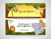 Web header or banner of jingle safari. — Stock Vector