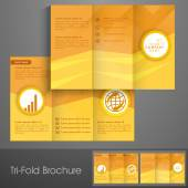 Professional business trifold flyer or banner. — Stockvektor