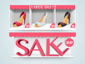 Wesite sale header or banner set for women's sandal. — Stock Vector