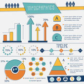 Complete Infographics layout for business. — ストックベクタ