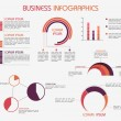 Collection of business infographics elements. — Vector de stock  #71508673