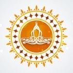 Ramadan Kareem celebration sticker, tag or label. — Stock Vector #71509033