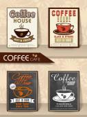 Set of Menu Cards or Flyers set for Cafe. — Vetor de Stock