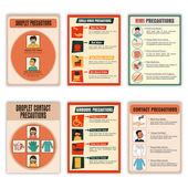 Set of Health and Medical Flyers. — Vettoriale Stock