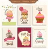 Set of Bakery Flyers. — Stock Vector