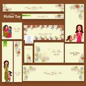 Social media ads or header for Mother's Day celebration. — Stock Vector