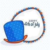 Шляпа с рамкой для празднования дня независимости Сша. — Cтоковый вектор