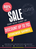 Limited time sale flyer, banner or template. — Vector de stock