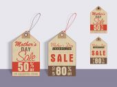 Sale tags for Happy Mother's Day celebration. — Stock Vector