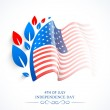 American flag design for Independence Day celebration. — Stock Vector #72224301