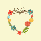 Hanging heart for love concept. — Stock Vector