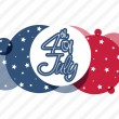 American Independence Day sticker or tag. — Stock Vector #72380369