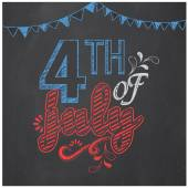 Poster, banner or flyer for American Independence Day celebratio — Stock Vector