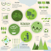 Set of ecology infographic elements. — ストックベクタ